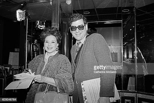 Cindy Adams and Michael Musto attend the nominees luncheon for 65th Annual Academy Awards on March 23, 1993 at the Russian Tea Room in New York City,...