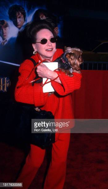 """Cindy Adams attends """"Harry Potter and the Chamber of Secrets"""" Premiere at the Ziegfeld Theater in New York City on November 10, 2002."""