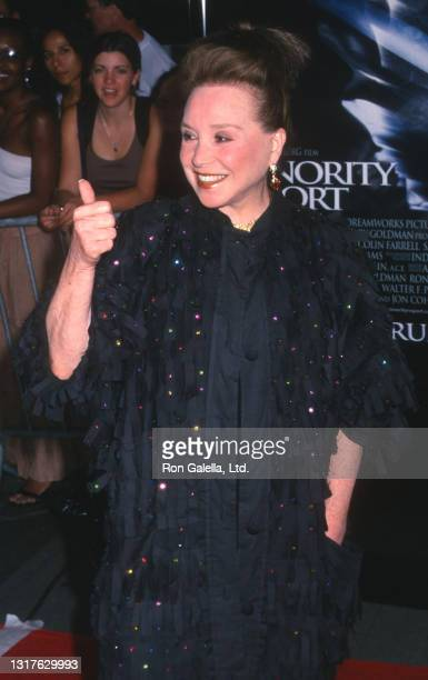 """Cindy Adams attends """"Minority Report"""" World Premiere at the Ziegfeld Theater in New York City on June 17, 2002."""