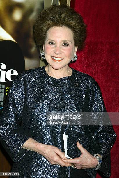 Cindy Adams during Alfie New York Premiere Inside Arrivals at Ziegfield Theater in New York City New York United States