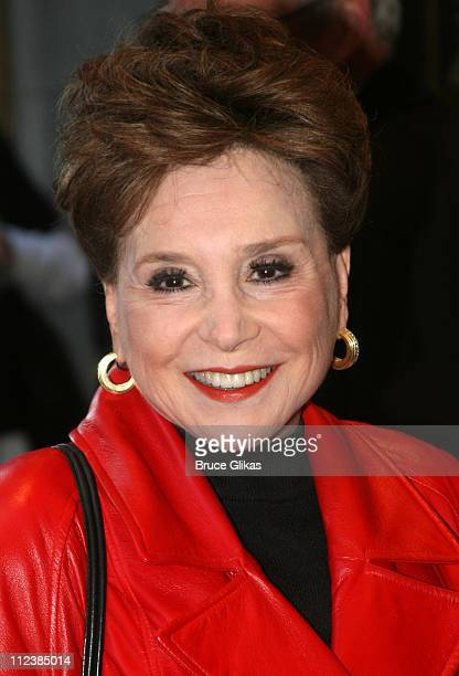 Cindy Adams during Festen Broadway Opening Night Arrivals at The Music Box Theater in New York City New York United States