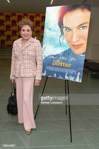 Cindy Adams during Miss Potter Special Private Screening at MoMA Theatre in New York City New York United States