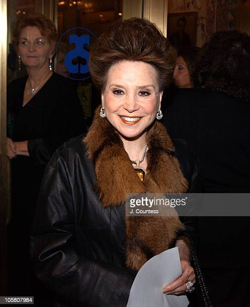 Cindy Adams during Opening Night of 'Sly Fox' on Broadway Arrivals at Ethel Barrymore Theatre in New York City New York United States