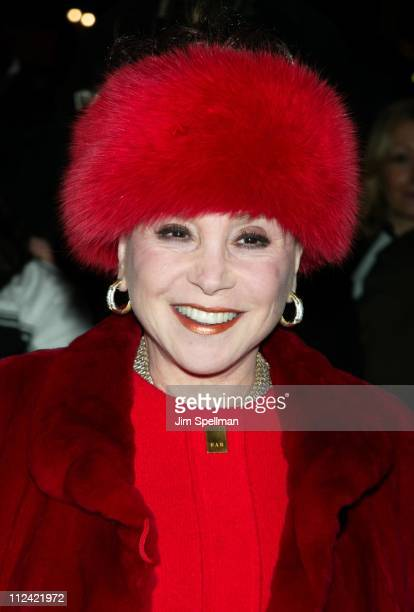 Cindy Adams during The 2002 New York Film Critics Circle 68th Annual Awards Dinner Outside Arrivals at Noche Restaurant in New York City New York...