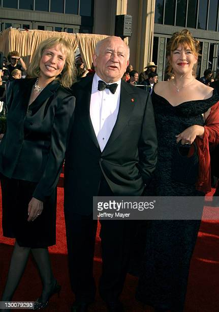 Cindy Asner Edward Asner Kate Asner during The 8th Annual Screen Actors Guild Awards Arrivals at Shrine Exposition Center in Los Angeles California...