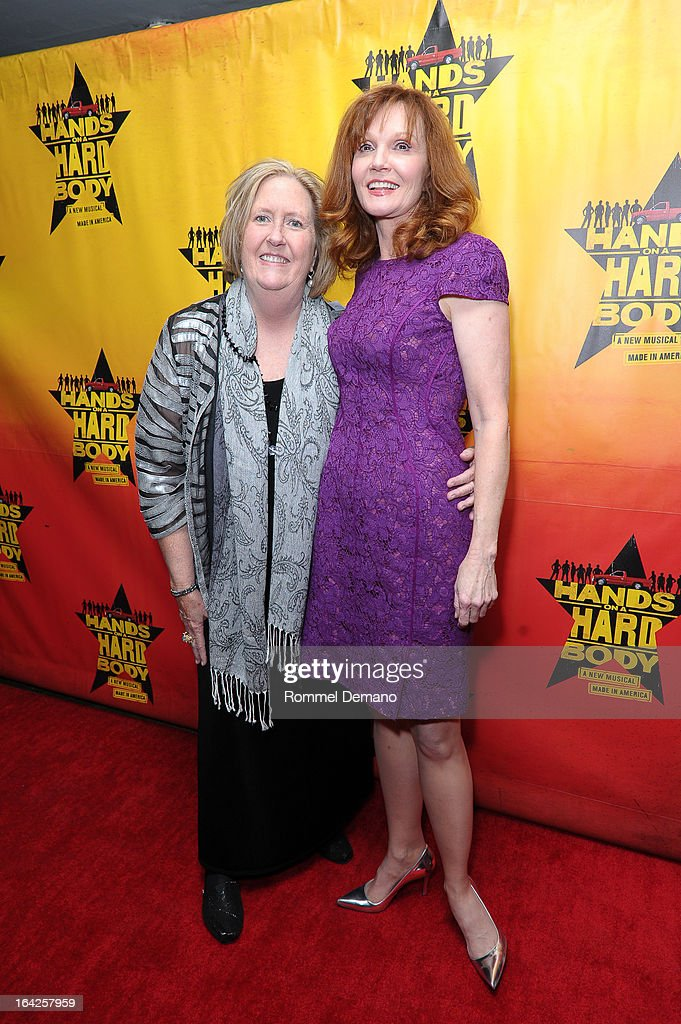 Cindy Barnes and Connie Ray attend 'Hands On A Hard Body' Broadway Opening Night After Party at Roseland Ballroom on March 21, 2013 in New York City.