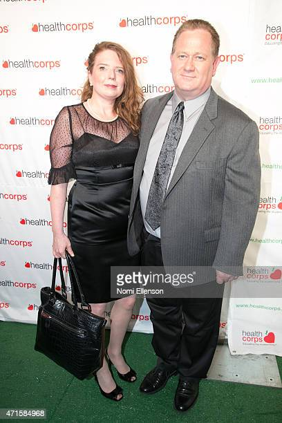 Cindy Bennett and Richie Byrne attend the 9th Annual HealthCorps' Gala at Cipriani Wall Street on April 29 2015 in New York City