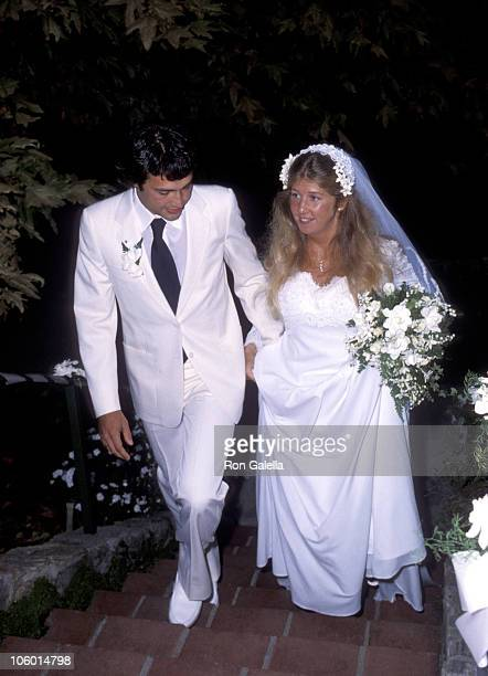 Cindy Bridges and Guest during Cindy Bridges' Wedding August 31 1979 at Bel Air Hotel in Bel Air California United States