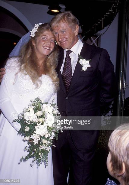 Cindy Bridges and Lloyd Bridges during Cindy Bridges' Wedding August 31 1979 at Bel Air Hotel in Bel Air California United States