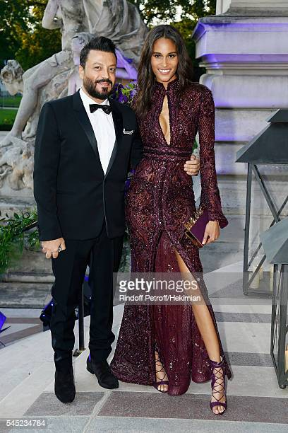 Cindy Bruna and Zuhair Murad attend the Soiree Haute Couture as part of Paris Fashion Week at Le Petit Palais on July 6 2016 in Paris France