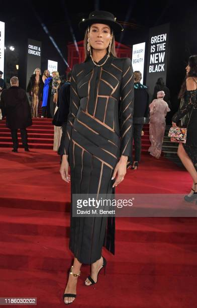 Cindy Bruna arrives at The Fashion Awards 2019 held at Royal Albert Hall on December 2 2019 in London England
