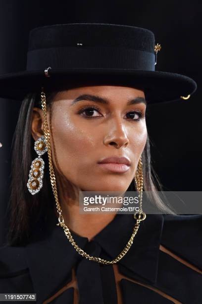 Cindy Bruna arrives at The Fashion Awards 2019 held at Royal Albert Hall on December 02 2019 in London England