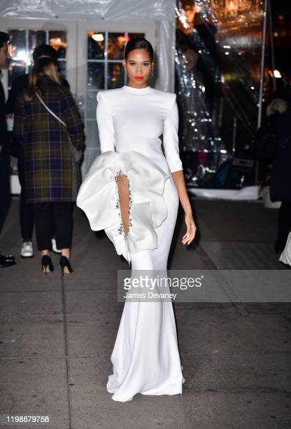 Cindy Bruna arrives to the amfAR Gala New York 2020 at Cipriani Wall Street on February 5, 2020 in New York City.