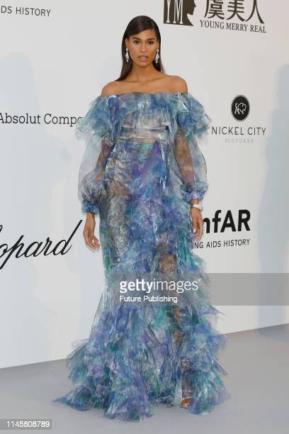 Cindy Bruna at the amfAR Cannes Gala 2019 at Hotel du CapEdenRoc on May 23 2019 in Cap d'Antibes France