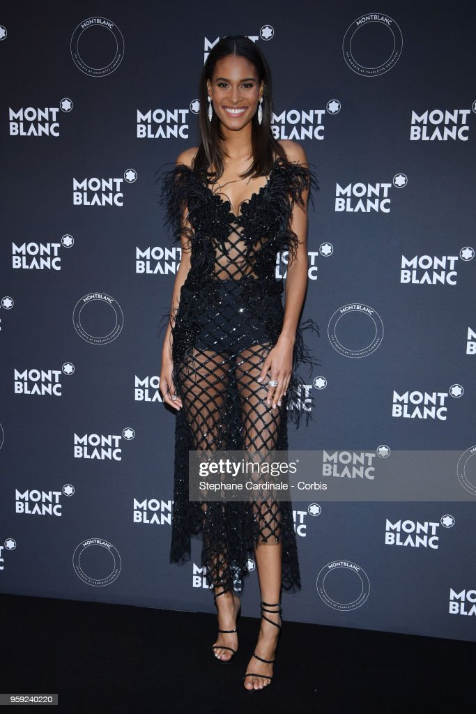 Cindy Bruna attends as Montblanc launch new collection and dinner hosted by Charlotte Casiraghi during the 71st annual Cannes Film Festival at Villa la Favorite on May 16, 2018 in Cannes, France.