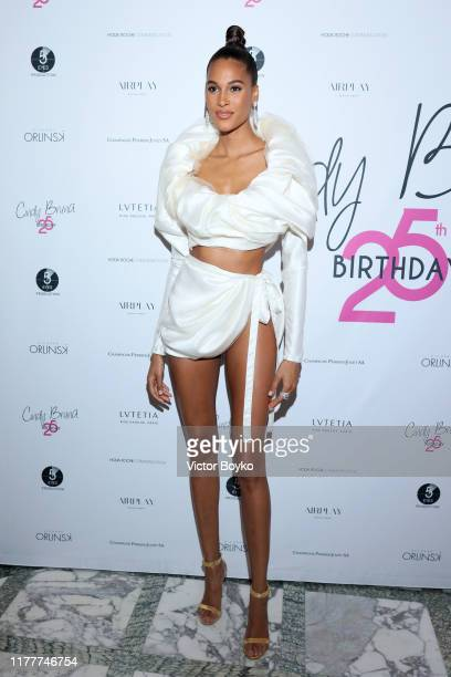 Cindy Bruna attends Cindy Bruna's Birthday Party at Hotel Lutetia with Five Eyes Production as part of Paris Fashion Week Womenswear Spring Summer...