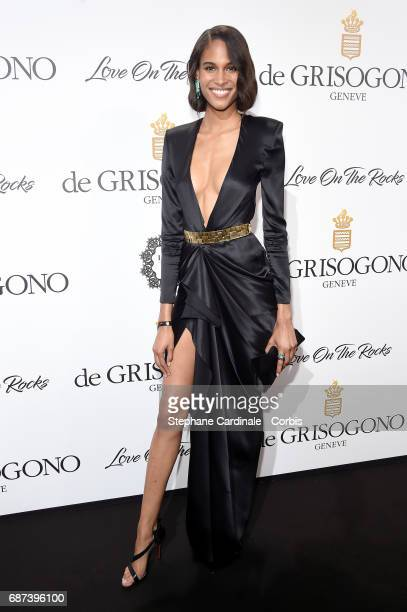 Cindy Bruna attends DeGrisogono Love On The Rocks during the 70th annual Cannes Film Festival at Hotel du CapEdenRoc on May 23 2017 in Cap d'Antibes...