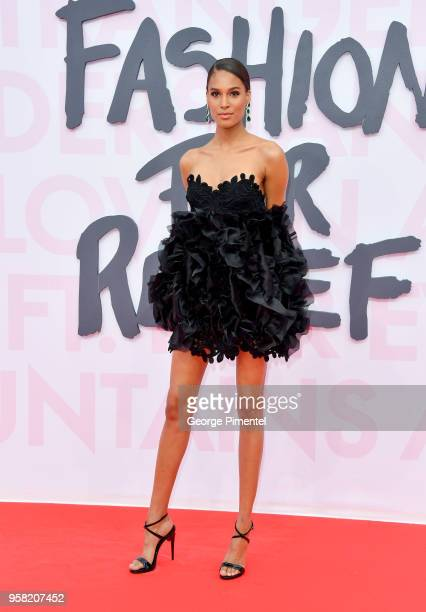 Cindy Bruna attends Fashion For Relief Cannes 2018 during the 71st annual Cannes Film Festival at Aeroport Cannes Mandelieu on May 13 2018 in Cannes...