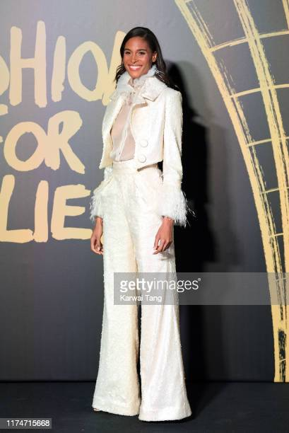 Cindy Bruna attends Fashion For Relief London 2019 at The British Museum on September 14 2019 in London England