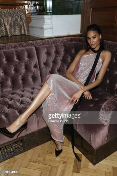 Cindy Bruna attends Roland Mouret's The Dinner of Love at Cecconi's a preopening dinner at The Ned on April 25 2017 in London England