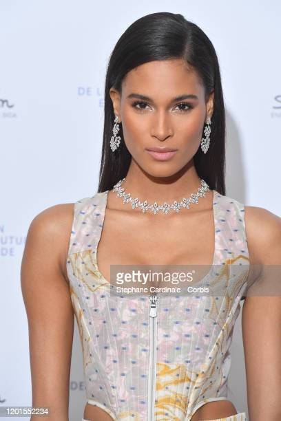 Cindy Bruna attends Sidaction Gala Dinner 2020 At Pavillon Cambon on January 23 2020 in Paris France