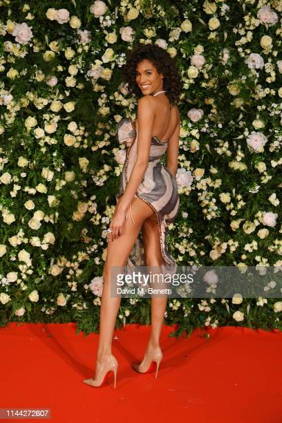 Cindy Bruna attends the 10th Annual Filmmakers Dinner hosted by Charles Finch Edward Enninful and Michael Kors at the Hotel du CapEdenRoc on May 17...