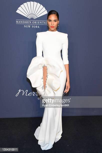 Cindy Bruna attends the 2020 amfAR New York Gala on February 05, 2020 in New York City.