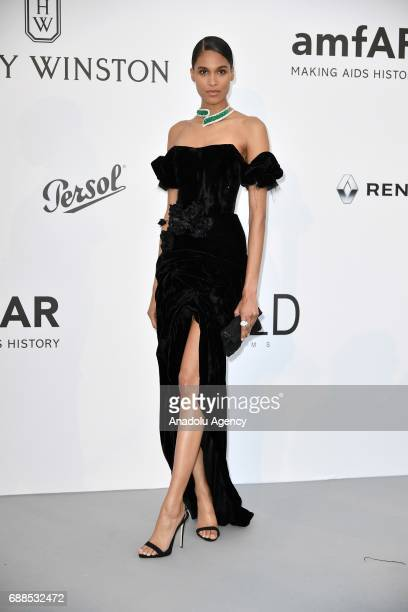 Cindy Bruna attends the Amfar Gala at Hotel du CapEdenRoc in Cap d'Antibes France on May 26 2017