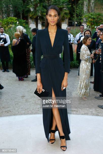 Cindy Bruna attends the amfAR Paris Dinner 2017 at Le Petit Palais on July 2 2017 in Paris France