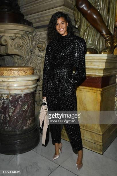 Cindy Bruna attends the Balmain Womenswear Spring/Summer 2020 show as part of Paris Fashion Week on September 27 2019 in Paris France