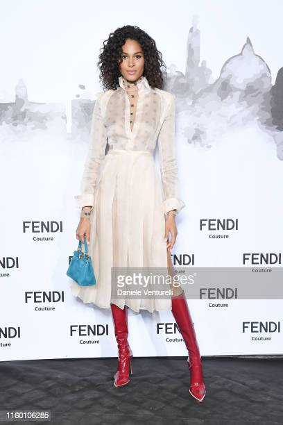 Cindy Bruna attends the Cocktail at Fendi Couture Fall Winter 2019/2020 on July 04 2019 in Rome Italy