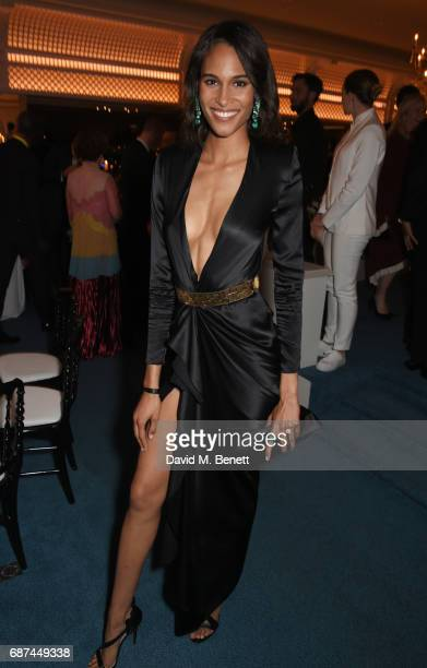 Cindy Bruna attends the de Grisogono Love On The Rocks party during the 70th annual Cannes Film Festival at Hotel du CapEdenRoc on May 23 2017 in Cap...