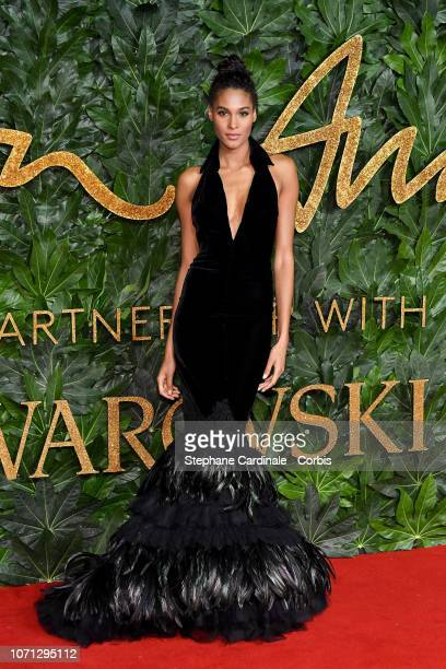 Cindy Bruna attends the Fashion Awards 2018 in partnership with Swarovski at Royal Albert Hall on December 10 2018 in London England