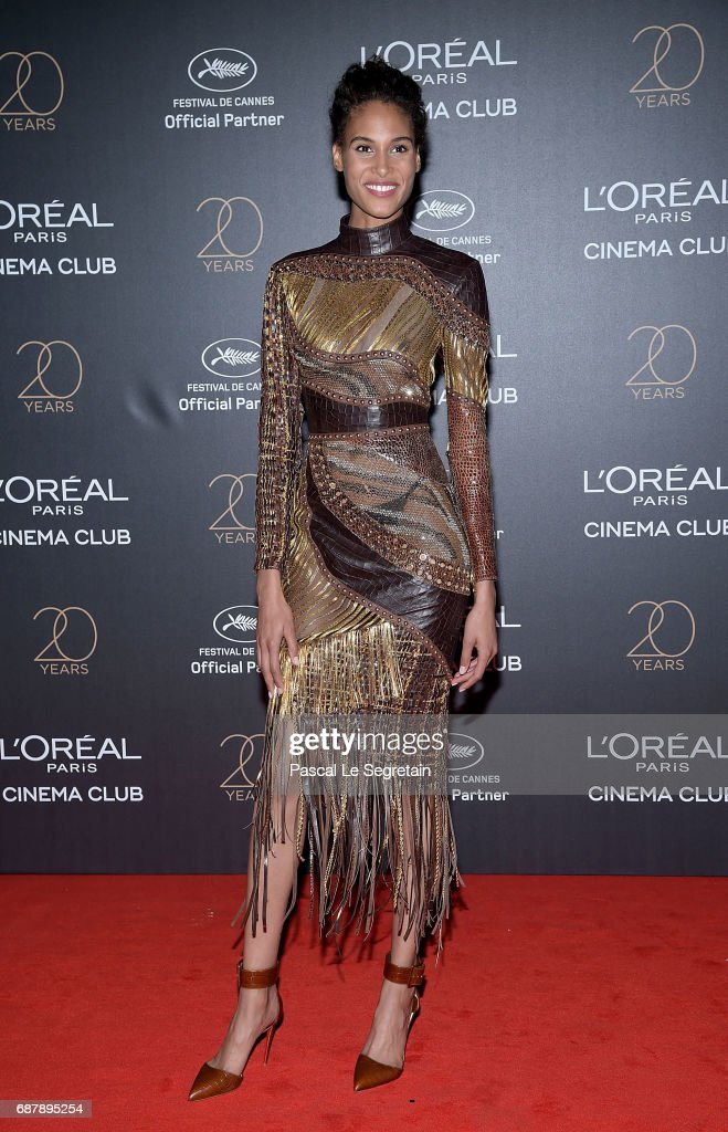 Cindy Bruna attends the Gala 20th Birthday Of L'Oreal In Cannes during the 70th annual Cannes Film Festival at Martinez Hotel on May 24, 2017 in Cannes, France.