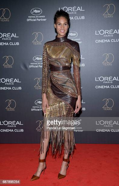 Cindy Bruna attends the Gala 20th Birthday Of L'Oreal In Cannes during the 70th annual Cannes Film Festival at Martinez Hotel on May 24 2017 in...