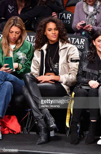 Cindy Bruna attends the Golden State Warriors vs Brooklyn Nets game at Barclays Center of Brooklyn on October 28 2018 in the Brooklyn borough of New...