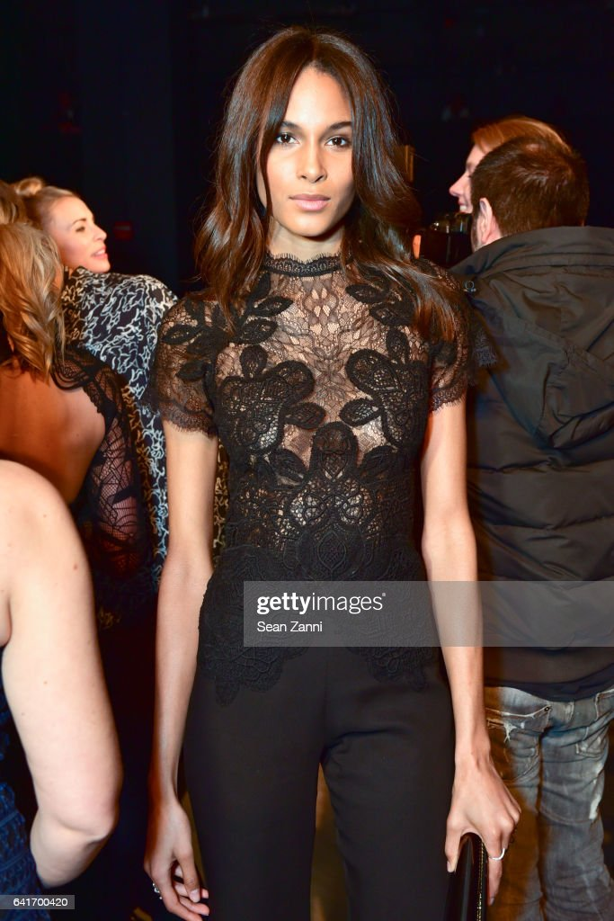 Cindy Bruna attends the Jonathan Simkhai show during New York Fashion Week at Skylight Clarkson Sq on February 11, 2017 in New York City.