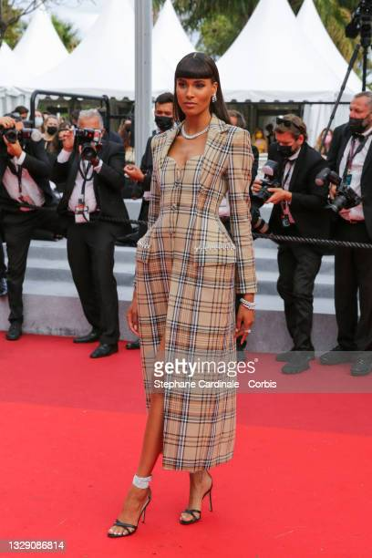 """Cindy Bruna attends the """"Les Intranquilles """" screening during the 74th annual Cannes Film Festival on July 16, 2021 in Cannes, France."""
