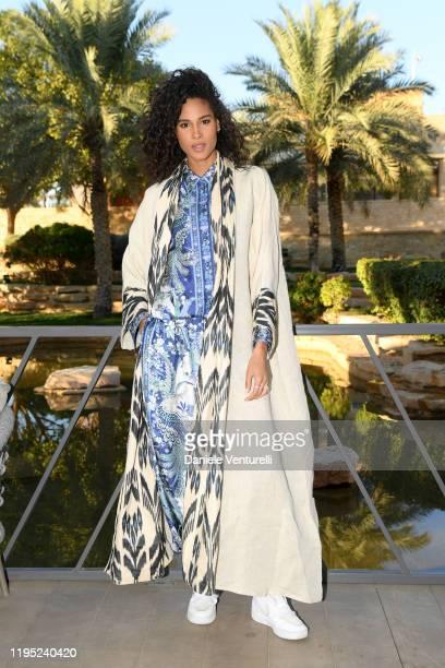 Cindy Bruna attends the MDL Beast Festival Lunch at the historical city of Diriyah on December 21, 2019 in Riyadh, Saudi Arabia.