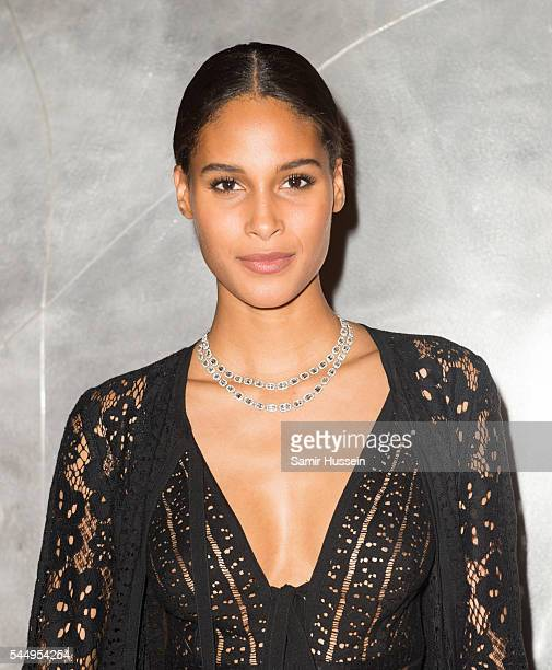 Cindy Bruna attends the Ralph Russo And Chopard Host Dinner as part of Paris Fashion Week on July 4 2016 in Paris France