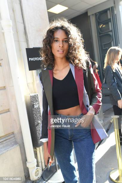 Cindy Bruna attends the Redemption show as part of the Paris Fashion Week Womenswear Spring/Summer 2019 on September 27 2018 in Paris France