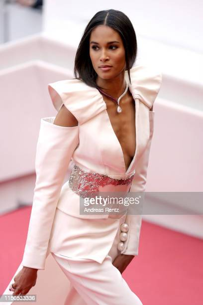 Cindy Bruna attends the screening of La Belle Epoque during the 72nd annual Cannes Film Festival on May 20 2019 in Cannes France