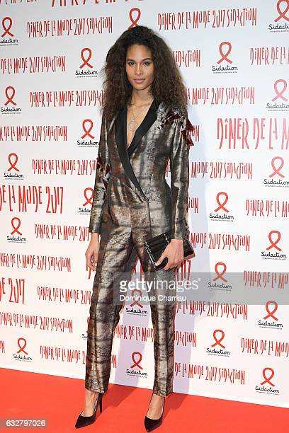Cindy Bruna attends the Sidaction Gala Dinner 2017 as part of Paris Fashion Week on January 26 2017 in Paris France