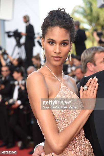 Cindy Bruna attends the The Beguiled screening during the 70th annual Cannes Film Festival at Palais des Festivals on May 24 2017 in Cannes France