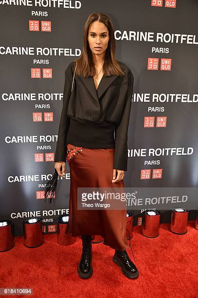 Cindy Bruna attends the UNIQLO Fall/Winter 2016 Carine Roitfeld collection launch at UNIQLO on October 26 2016 in New York City