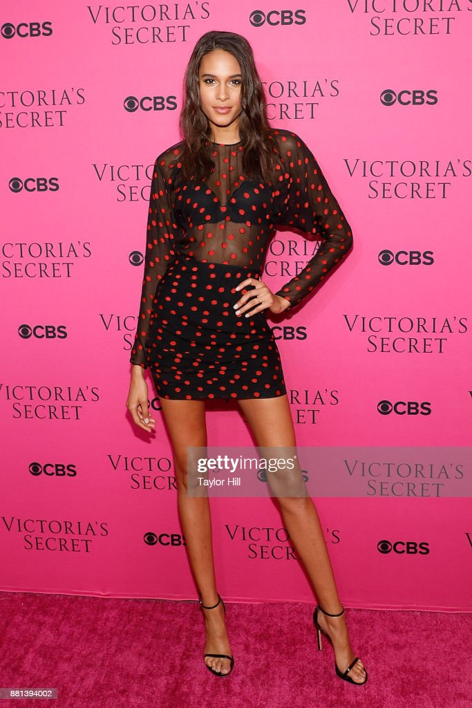 Cindy Bruna attends the Victoria's Secret Viewing Party Pink Carpet celebrating the 2017 Victoria's Secret Fashion Show in Shanghai at Spring Studios on November 28, 2017 in New York City.