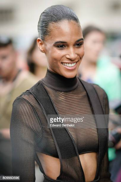 Cindy Bruna attends the Vogue Foundation Dinner during Paris Fashion Week Haute Couture Fall/Winter 20172018 on July 4 2017 in Paris France