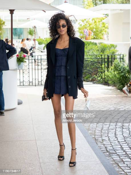Cindy Bruna is seen at the Martinez hotel during the 72nd annual Cannes Film Festival on May 21 2019 in Cannes France