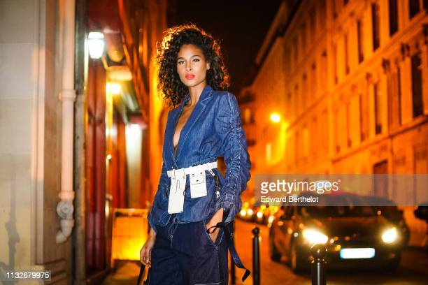 Cindy Bruna is seen during Paris Fashion Week Womenswear Fall/Winter 2019/2020 on February 27 2019 in Paris France