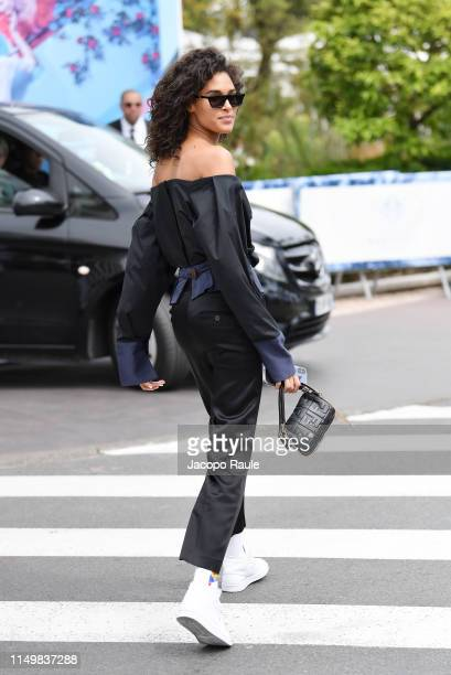 Cindy Bruna is seen during the 72nd annual Cannes Film Festival at on May 17 2019 in Cannes France
